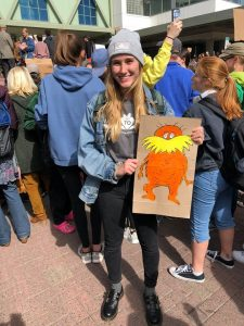Cassidy at Climate Strike